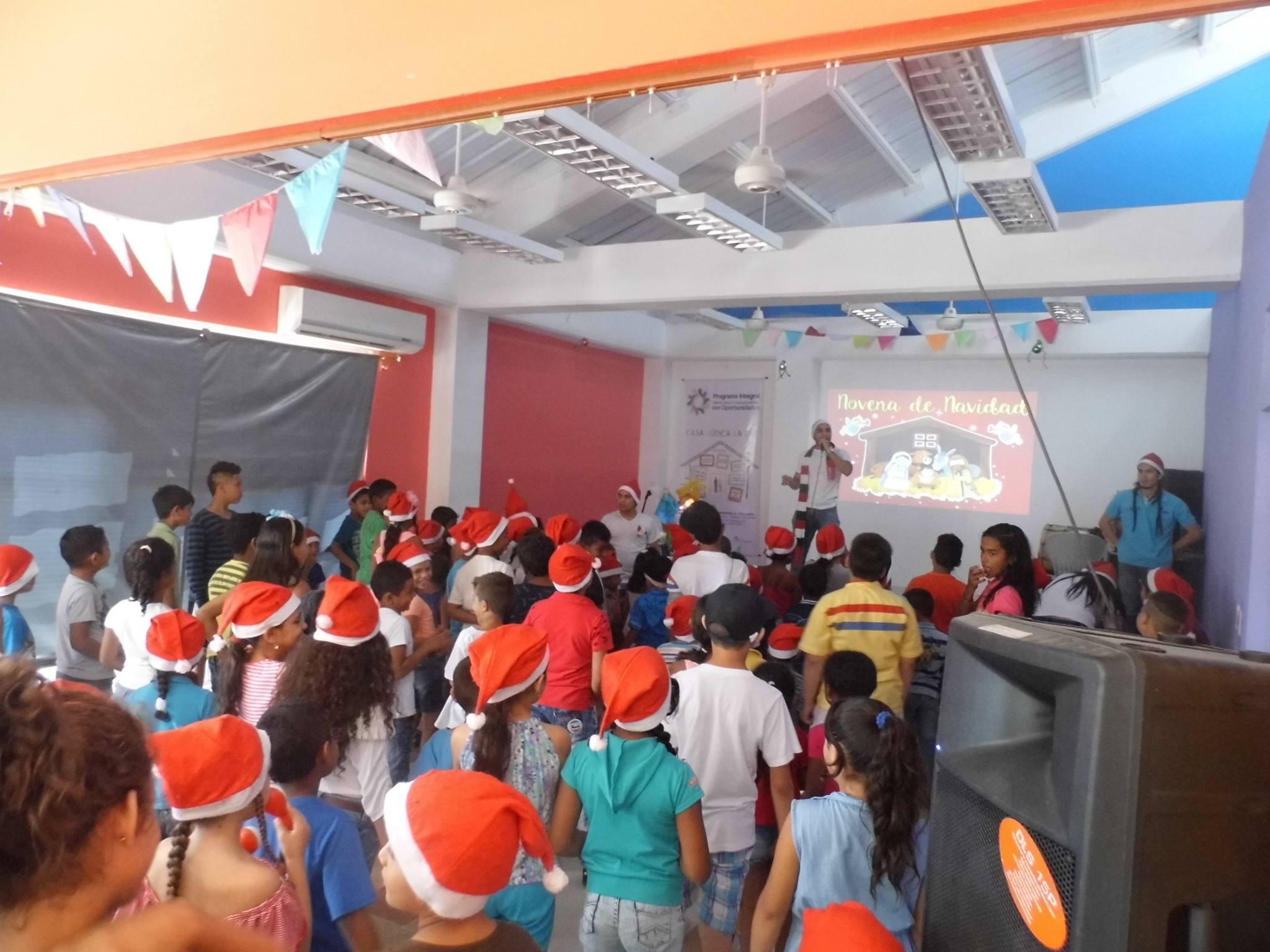 Celebración de las fiestas de Navidad en la Casa Lúdica.