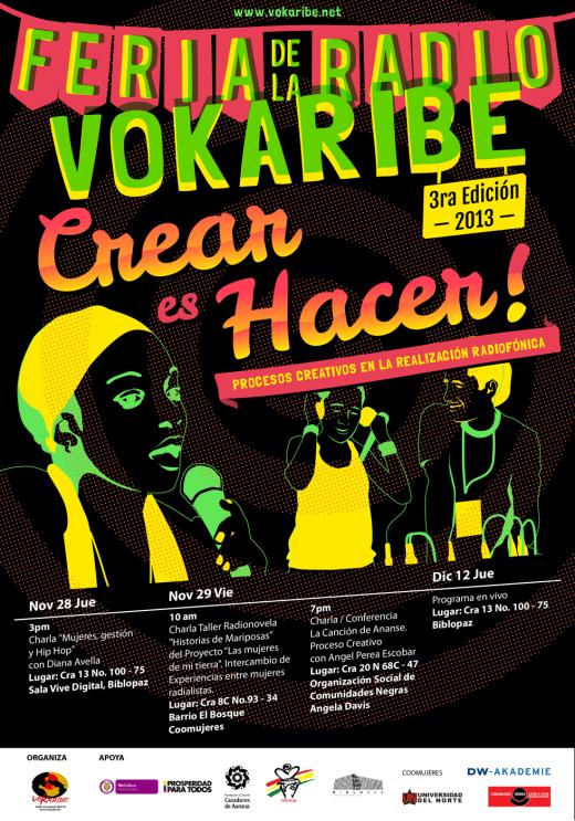 III Feria de La Radio Vokaribe 2013 | Crear Es Hacer! | Diseño: Guillermo Solano