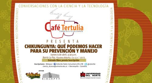 Café Tertulia Ciencia a tu alcance | Vokaribe |Biblopaz |Universidad del Norte